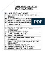 Fourteen Principles of Human Relations