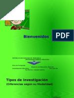Presentación Sobre Tipos de Investigaciones