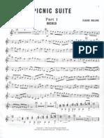 Cl.bolling Picnic Suite for Flute Guitar & Piano Trio (Guitar)