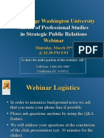 The George Washington University Strategic Public Relations Online March 25th Webinar