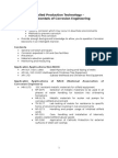 Applied Production Technology - Fundamentals of Corrosion Engineering