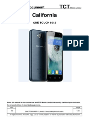 ALCATEL ONE TOUCH 6012 L2 Repair Document V1 0   Electrical