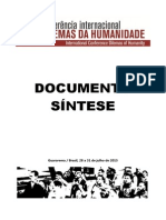 Documento Sintese Dilemas da Humanidade