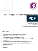 Scope of Rights of Broadcasting Organizations