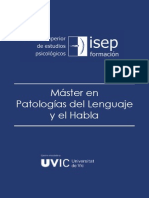 Master Patologia Del Lenguaje y El Habla 12-13 E-L