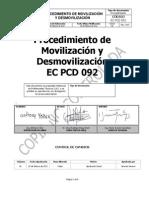 Ec Pcd 092 Movilización y Desmovilización