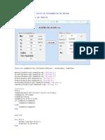 Código de Programación en Matlab
