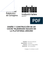 Diseño y Construcción de Un Coche Teledirigido Basado en La Plataforma Arduino