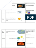 science vocabulary sheet unit 2 teacher 2