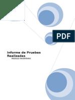 Informe de Pruebas de un sistema ERP
