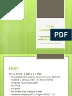Case Presentation Cord Prolapse