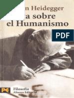 Martín Heidegger - Carta Sobre El Humanismo