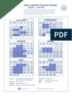 2016 legislative session calendar