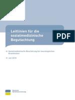 Leitlinie Sozialmed Beurteilung Neurologie