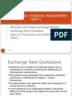 International Finance - Part II International Financial Markets & Instruments