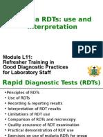 Malaria RDTs Use and Interpretation