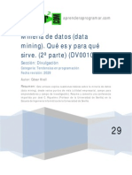 Mineria de Datos Data Mining Modelos Tecnicas Herramientas 2