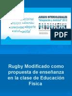 Rugby Modificado Como Propuesta de Enseñanza
