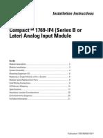 1769-If4 (Series B or Later) Analog Input Module