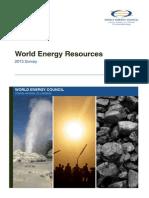 WEC 2013 - World Energy Resources Summary