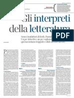 Gli interpreti della letteratura - Ida Bozzi, La Lettura 08.11.2015