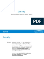 Loyalty - Recommendation for New Service - JS011210