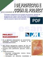 1° Gestipon de proyectos e introduccion al project