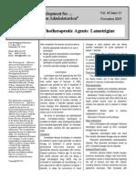 2015 11 Psychotherapeutic Agents- Lamotrigine