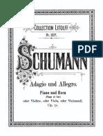 Adagio and Allegro - Piano
