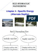 (N)CEWB222 Chapter 4 - Specific Energy