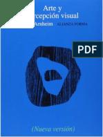 Arnheim, Rudolf. Arte y Percepción Visual
