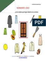 Razonamiento Lógico Categorizar y Agrupar Armario Color