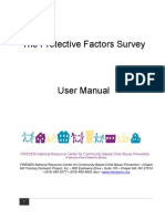 Protective Factors Survey User's Manual