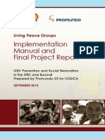 living peace groups implementation manual and report
