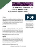 A Circulação Da Notícia Na Sociedade Em Processo de Midiatização o Caso de Jornais de Abrangência Regional
