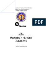 Metro crime report Aug 2015