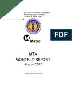 Metro crime report Aug 2015