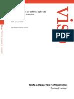 Carta a Hugo Von Hofmansthal
