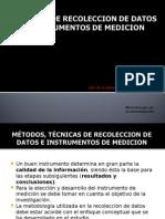 Tecnicas de Recoleccion de Datos Lic. Jorge Alejandro Zelaya