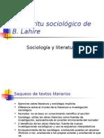 El espíritu sociológico de B. Lahire
