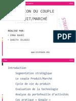 Stratégie - Présentation Couple Produit-marché