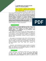 Los Objetivos y Justificaciones de La Intervención Gubernamental y La Actuación Pública