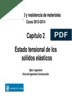 Estado tensional de los sólidos elásticos