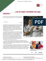«Bale No Quiere Ser El Mejor Vendedor de Ropa Interior» PARA FUTBOL