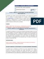 Definicion e Importancia Gestion de Calidad - Jorge Alejandro Escurra Vera