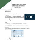 Medidas de Ubicación-datos Agrupados-marco Tashiguano