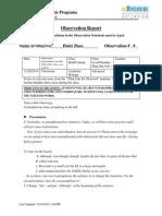 observation report 9