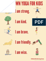 Calm Down Yoga for Kids Poster