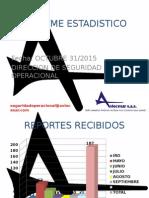 Estadística 31 Octubre 2015