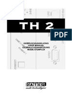 Dateq Th2 Telephone Hybrid User Manual